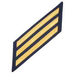 Coast Guard CPO Hash Marks: Gold Lace on Blue - Set of 3