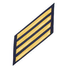 Coast Guard CPO Hash Marks: Gold Lace on Blue - Set of 4