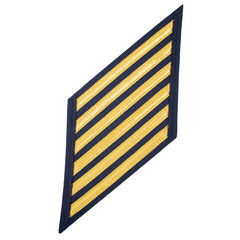 Coast Guard CPO Hash Marks: Gold Lace on Blue - Set of 6