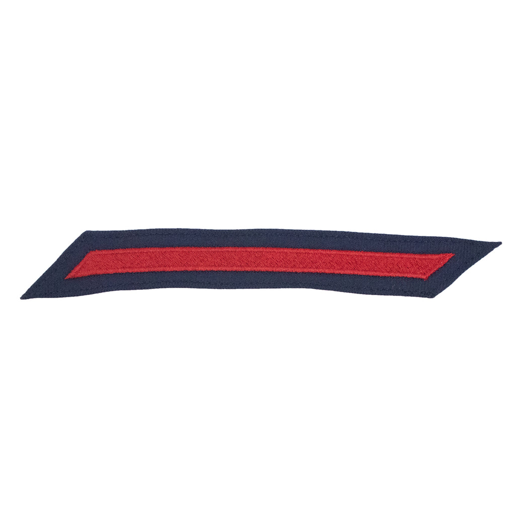 Coast Guard Hash Marks: Enlisted - Red on Blue Serge, Set of 1