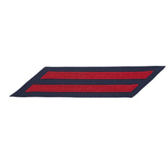 Coast Guard Hash Marks: Enlisted - Red on Blue Serge, Set of 2