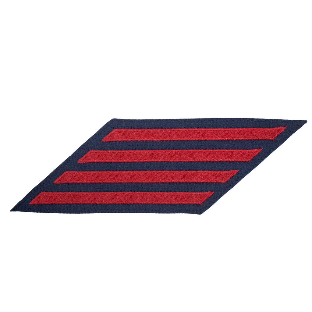 Coast Guard Hash Marks: Enlisted - Red on Blue Serge, Set of 4