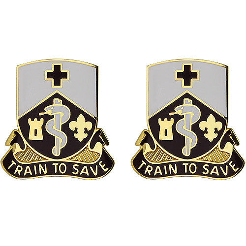 Army Crest: 187th Medical Battalion - Train to Save