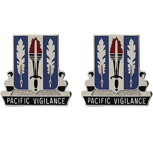 Army Crest: 205th Military Intelligence Battalion - Pacific Vigilance