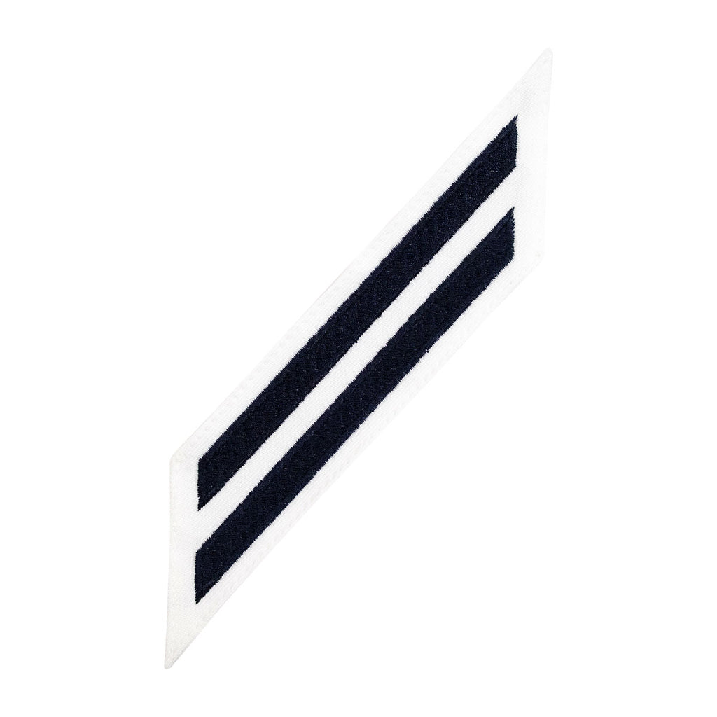 Navy Enlisted Hashmarks: Blue Embroidered on White CNT - set of 2