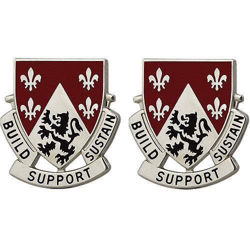 Army Crest: 249th Engineer Battalion - Build Support Sustain