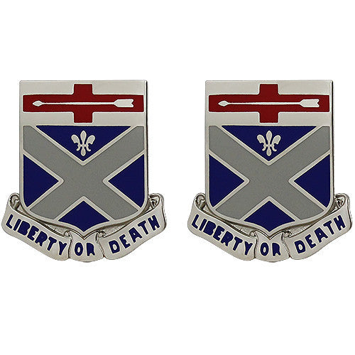 Army Crest: 276th Engineer Battalion - Liberty or Death