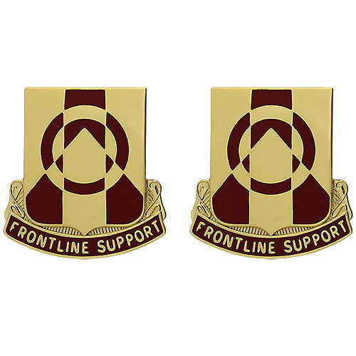 Army Crest: 296th Support Battalion - Frontline Support