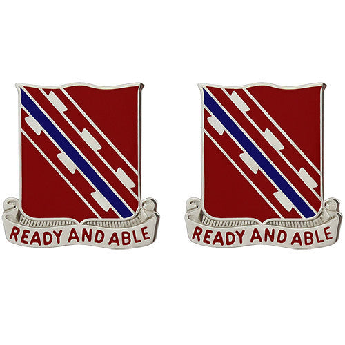 Army Crest: 411th Engineer Battalion - Ready and Able