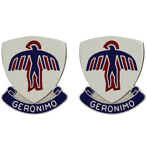 Army Crest: 501st Infantry Regiment - Geronimo