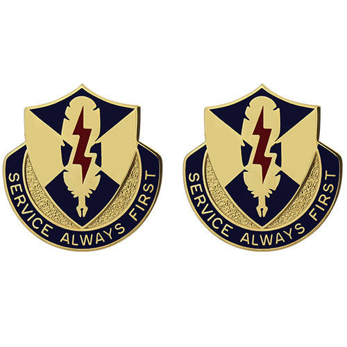 Army Crest: 556th Personnel Services Battalion - Service Always First