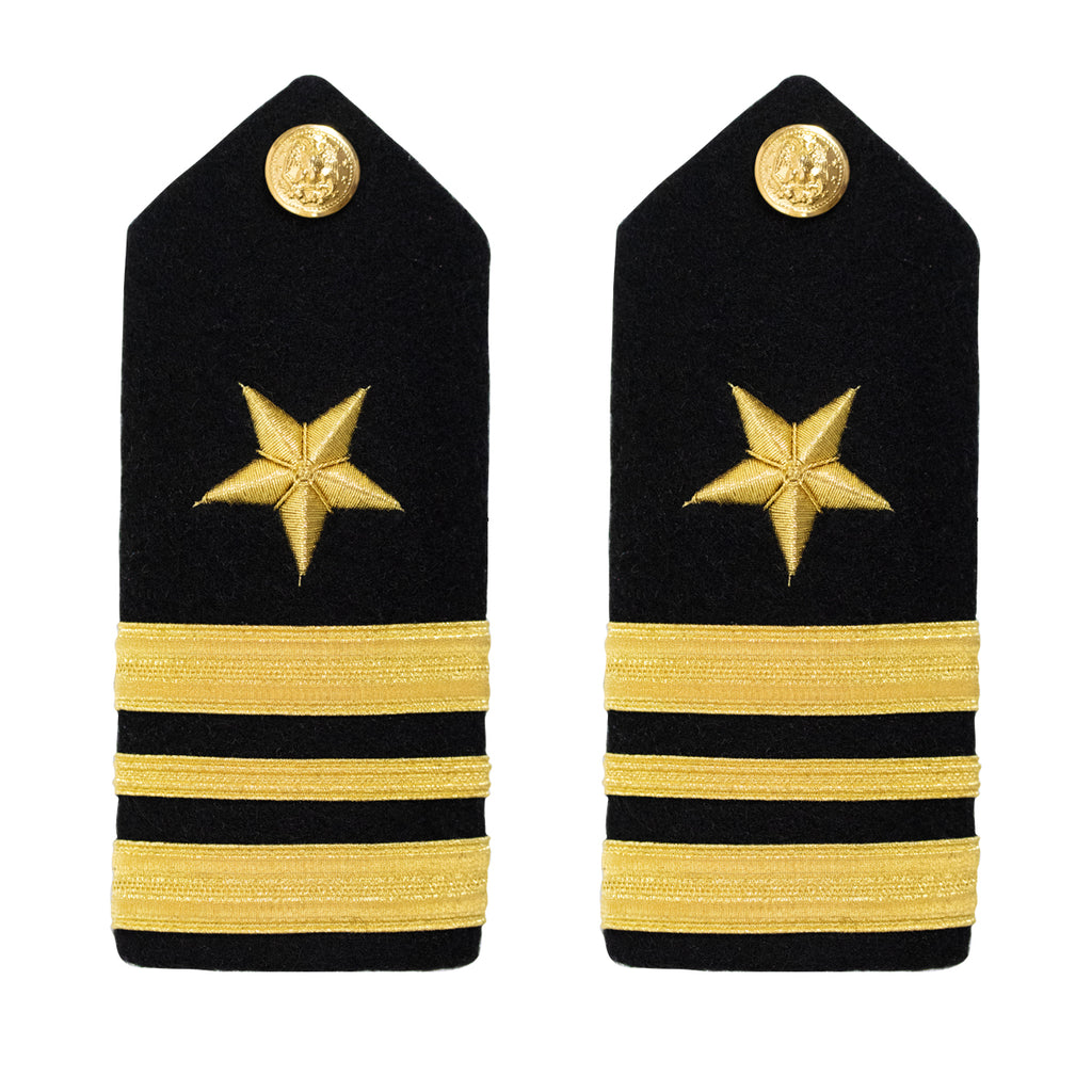 Navy Shoulder Board: Line Lieutenant Commander - male