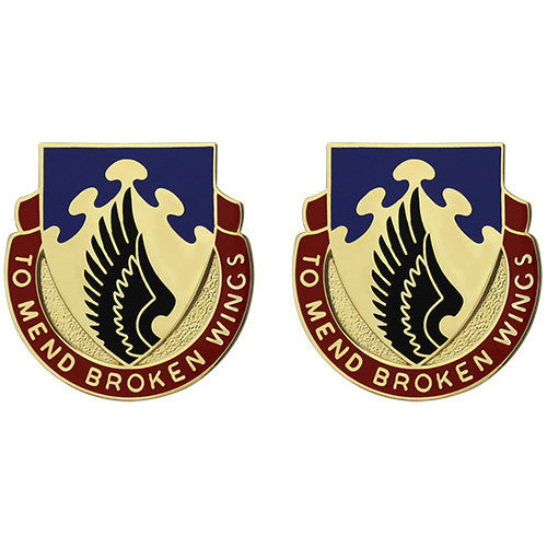 Army Crest: 602nd Support Battalion - To Mend Broken Wings