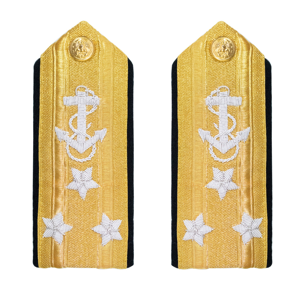 Navy Shoulder Board: Line Vice Admiral 3 Star - male