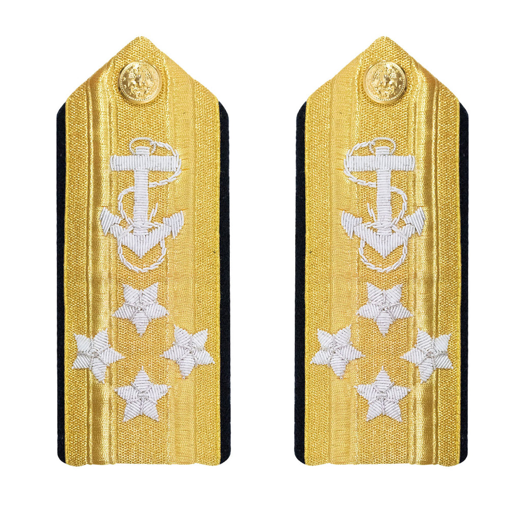 Navy Shoulder Board: Line Admiral 4 Star - male