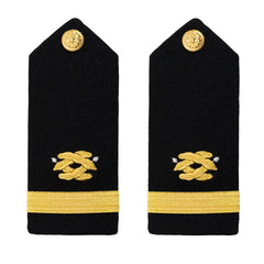 Navy Shoulder Board: Ensign Civil Engineer - male