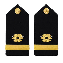 Navy Shoulder Board: Ensign Civil Engineer - female