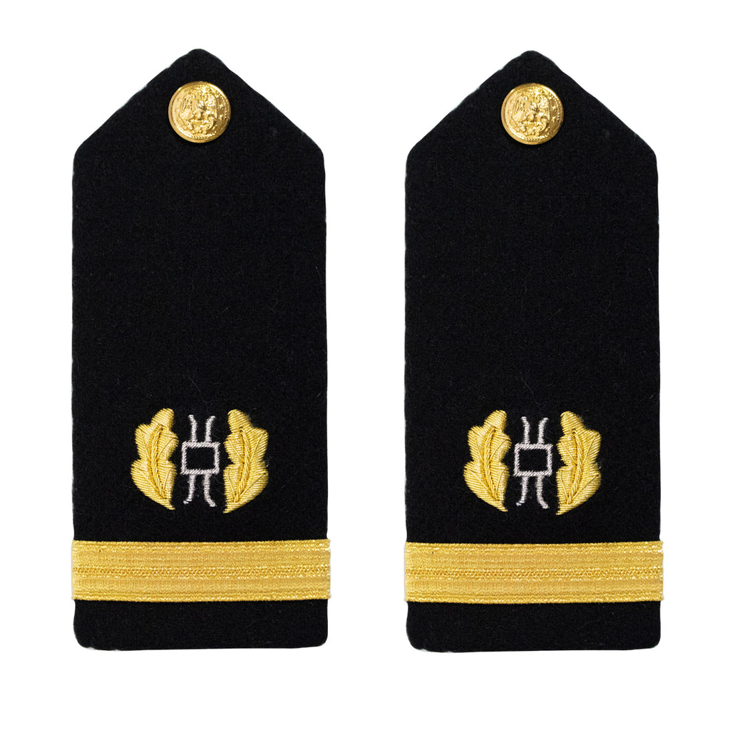 Navy Shoulder Board: Ensign Judge Advocate - male