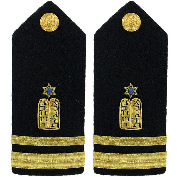 Navy Shoulder Board: Lieutenant Junior Grade Jewish Chaplain