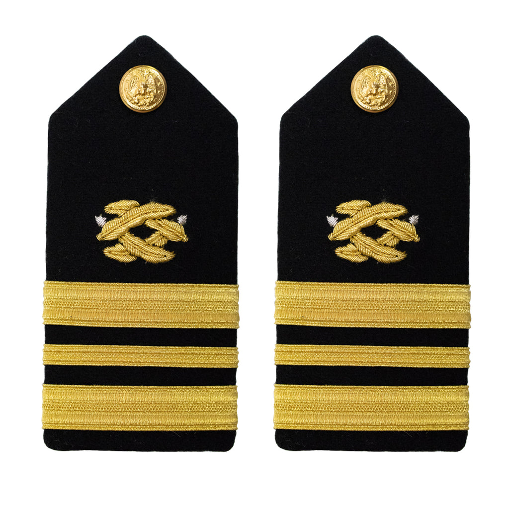 Navy Shoulder Board: Lieutenant Commander Civil Engineer - female