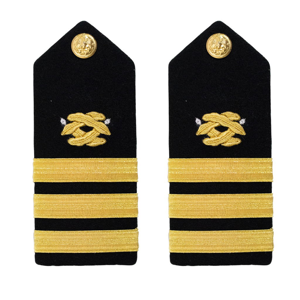 Navy Shoulder Board: Commander Civil Engineer - male