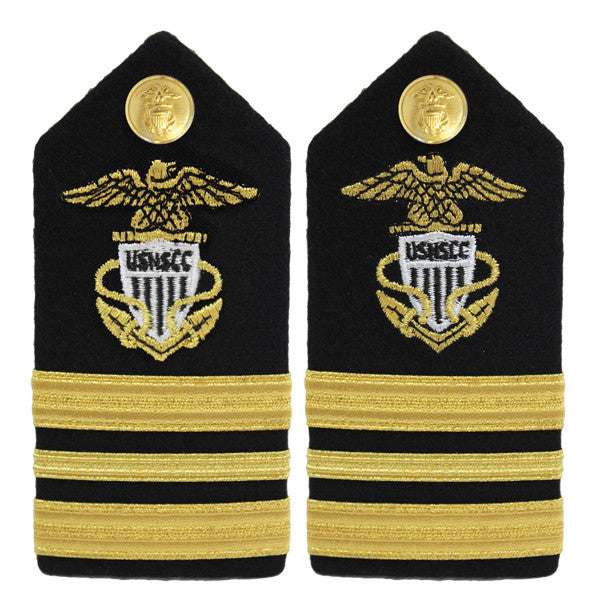 USNSCC / NLCC - Lieutenant Commander (LCDR) Hard Shoulder Board (Female)