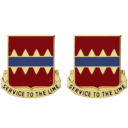 Army Crest: 725th Support Battalion - Service to The Line