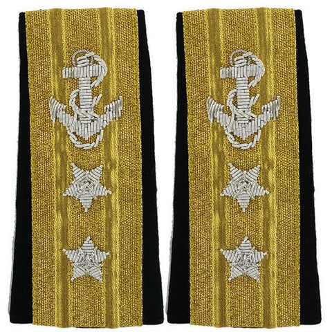 Navy Soft Shoulder Mark: Two-Star Line Rear Admiral Upper