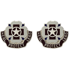 Army Crest: 3297th Hospital - Heal Protect Lead