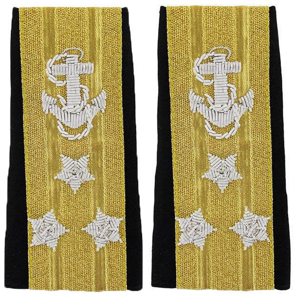 Navy Soft Shoulder Mark: Line Vice Admiral Three-Star