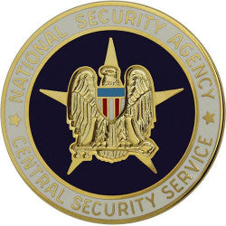 Army Identification Badge: National Security Agency Central Security Service Miniature