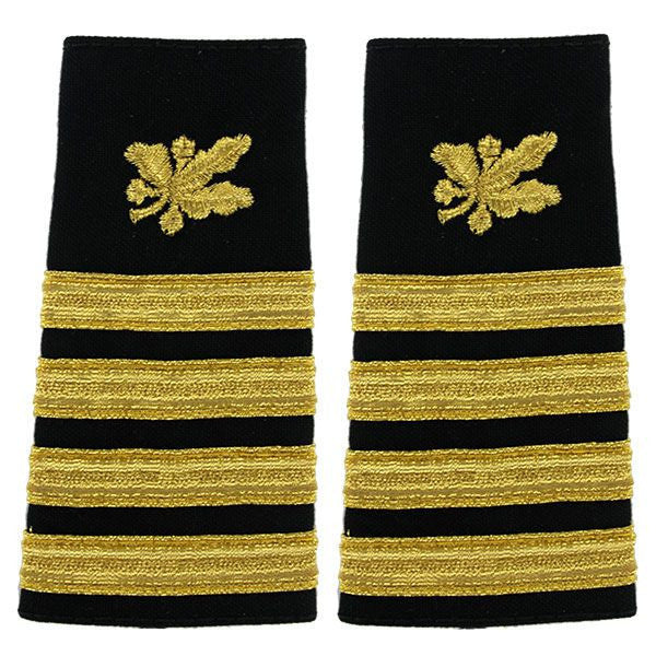 Navy Soft Shoulder Mark: Captain Supply Corps