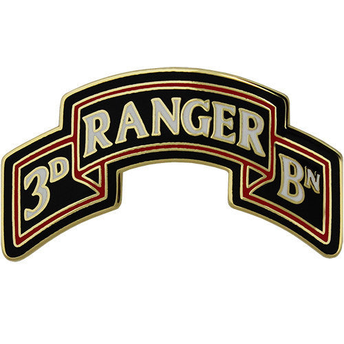 Army Combat Service Identification Badge (CSIB):  3rd Ranger Battalion Scroll 75th Ranger Regiment