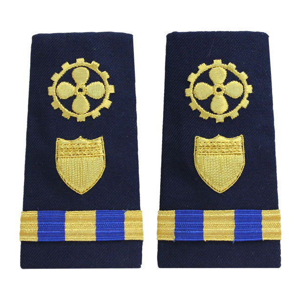 Coast Guard Shoulder Board: Enhanced Warrant Officer 3 Marine Safety Engineer