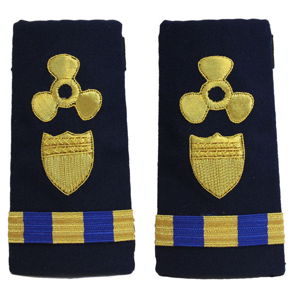 Coast Guard Shoulder Board: Enhanced Warrant Officer 3 Naval Engineering