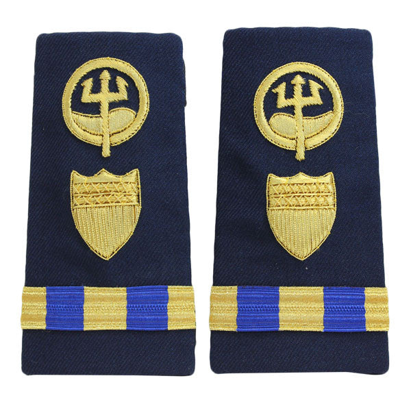 Coast Guard Shoulder Board: Enhanced Warrant Officer 3 Marine Safety Response
