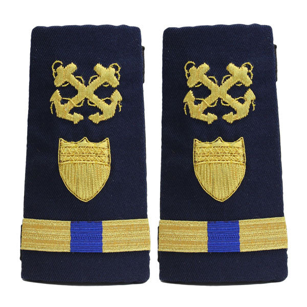 Coast Guard Shoulder Board: Enhanced Warrant Officer 4 Boatswain