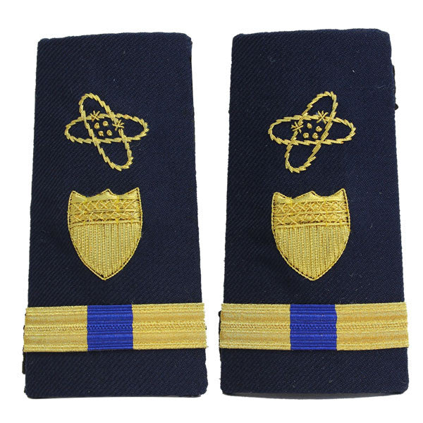 Coast Guard Shoulder Board: Enhanced Warrant Officer 4 Electronics
