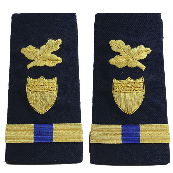 Coast Guard Shoulder Board: Enhanced Warrant Officer 4 Finance and Supply
