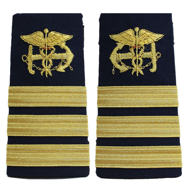 Coast Guard Shoulder Board: Enhanced Public Health Service Commander PHS