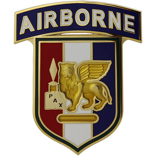 Army Combat Service Identification Badge (CSIB): Africa and Southern European Task Force SETAF with Airborne Tab