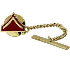 Marine Corps Tie Tac: Private First Class - gold and red