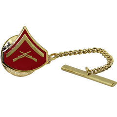 Marine Corps Tie Tac: Lance Corporal - gold and red