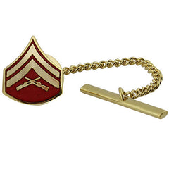Marine Corps Tie Tac: Corporal - gold and red