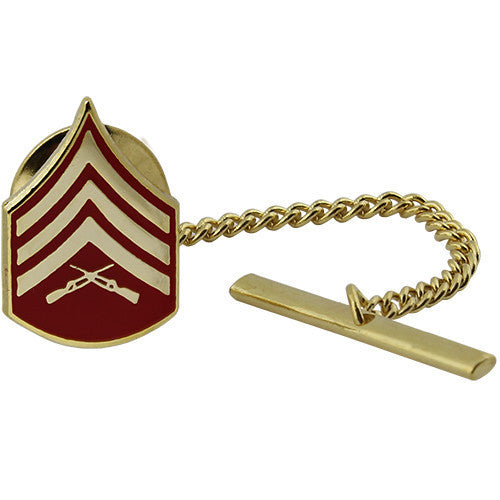 Marine Corps Tie Tac: Sergeant - gold and red
