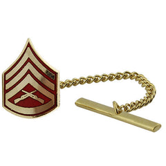 Marine Corps Tie Tac: Staff Sergeant - gold and red