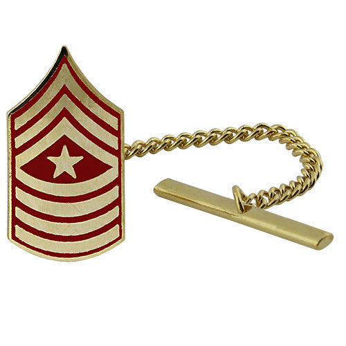 Marine Corps Tie Tac: Sergeant Major - gold and red
