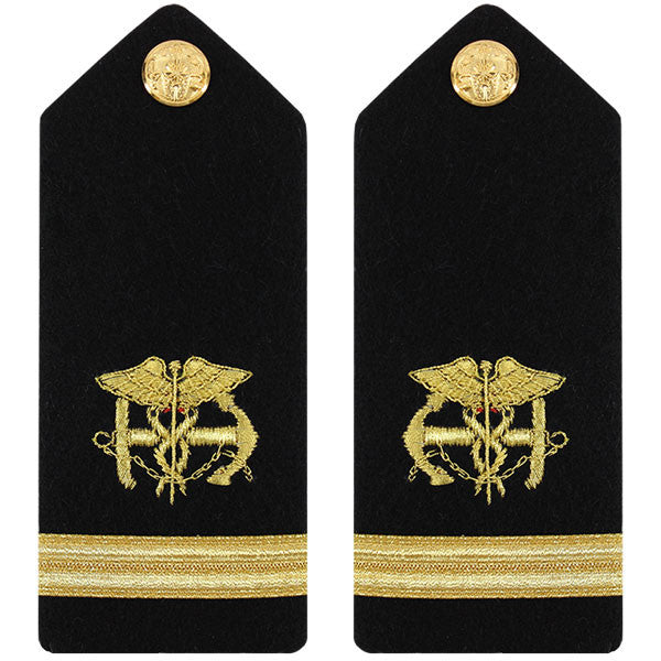 Public Health Service PHS MALE Hard Shoulder Board: Ensign