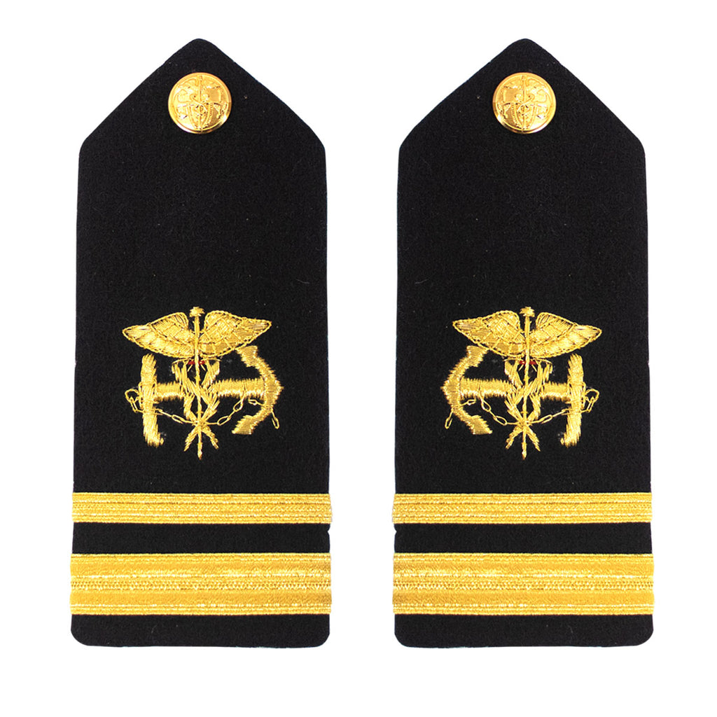 Public Health Service PHS MALE Hard Shoulder Board: Lieutenant Junior Grade