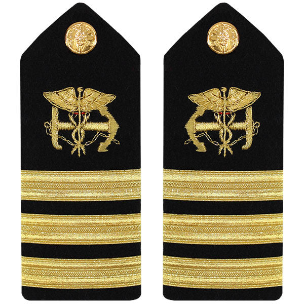 Public Health Service PHS MALE Hard Shoulder Board: Commander